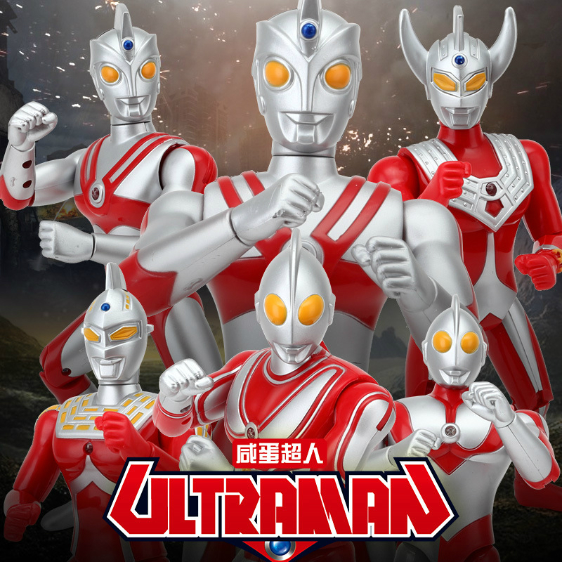 18cm 25cm Ultraman Taro Seven Jack Ace Cute Action Figures PVC Doll Collection Model Sound Toys Children's Holiday gifts image