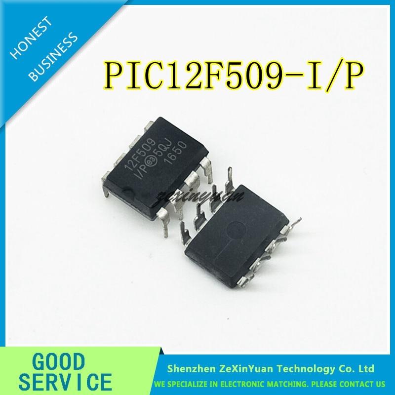 10 pièces 20 pièces 50 pièces PIC12F509 I/P PIC12F509 12F509 DIP8 d'origine Meilleure qualité|lot lot|lot 10pcs  -