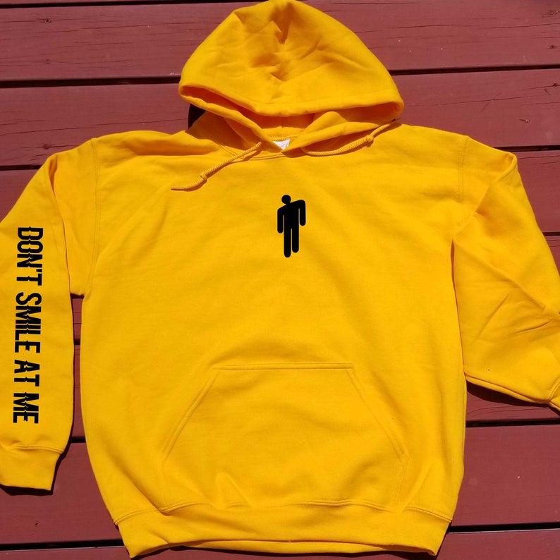 Don't Smile At Me Billie Eilish Hoodie Sweatshirt Women Men Long Sleeve Printed Hooded Unisex Pullover 2019 Fall Fashion Hoody