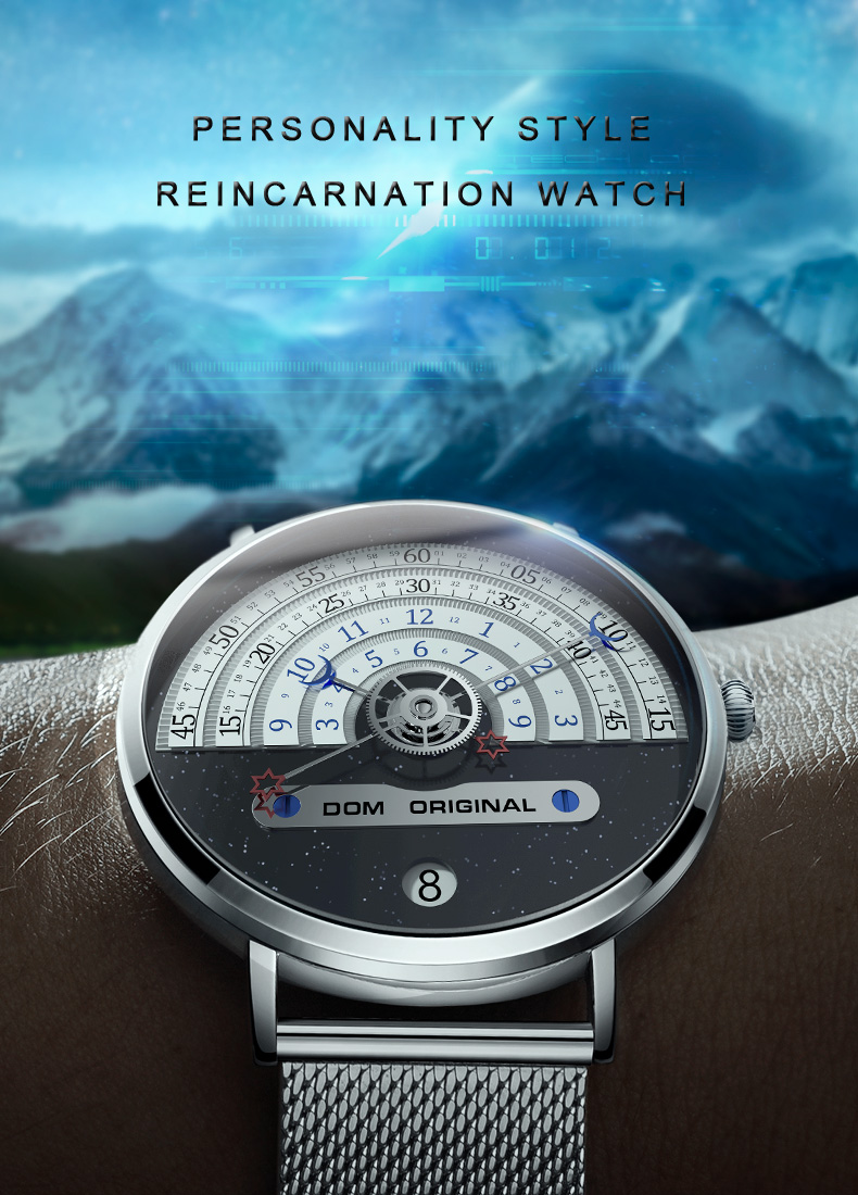 Fashion Mens Watches Top Brand DOM Luxury Quartz Watch Men Casual Steel Waterproof Sport Watch Relogio Masculino