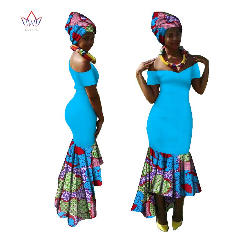 Dashiki Party Dress Hot Vestidos Dashiki Dresses For Women Cotton Print Traditional African Clothing Xxl Clothing Women WY1885