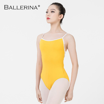 Ballerina ballet leotard women aerialist Practice Dance Costume white edge Sling gymnastics Leotard Adulto 5102 - discount item  10% OFF Stage & Dance Wear