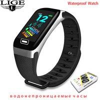 LIGE 2021 New Smart Watch Sport Smart Band Monitor per la pressione sanguigna Wristband Smartwatch bracciale da polso per uomo donna Smart