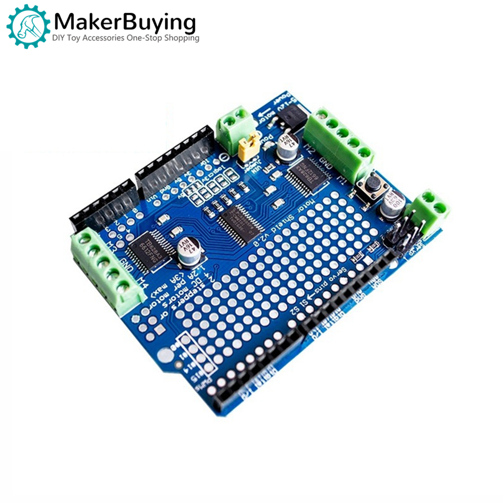 Motor / Stepper / Servo Shield V2 DC Stepper Motor Servo Drive Module For Arduino Robot PWM Uno Mega R3 Replace L293D