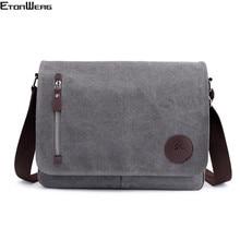 Винтажный холщовый портфель, мужская деловая офисная сумка через плечо, повседневная Наплечная Сумка конверт, Мужская Наплечная Сумка в стиле ретро, 2019