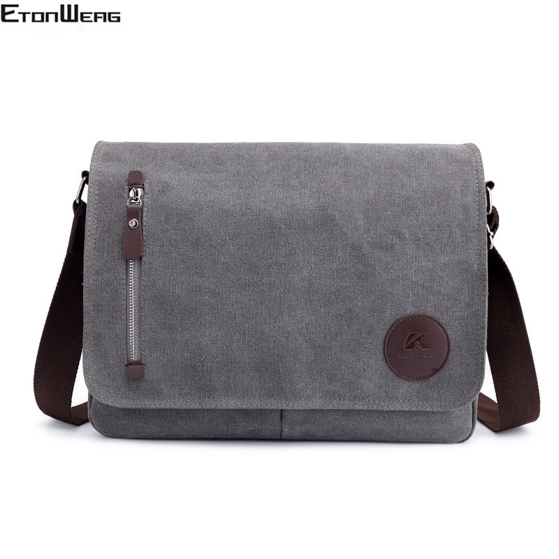 Vintage Canvas Briefcase Men Business Office Crossbody Bags Casual Cover Shoulder Bags Envelope Male File Work Bag Retro 2019