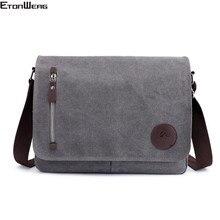 Vintage Canvas Briefcase Men Business office Crossbody bags Casual Cover Shoulder Bags Envelope male File work bag Retro 2021