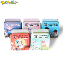 Story Dice Puzzle Cube Board Game Telling Story Metal Boxes Family/Party/Friends Parents with Children Funny English Game Cubes