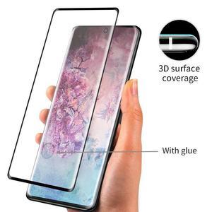Image 4 - Verre trempé pour Samsung Galaxy note 10 protecteur décran plein bord incurvé verre de protection pour Samsung note 10 Plus + Pro 5G