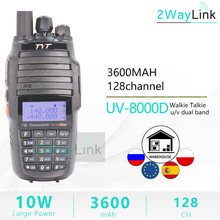 TH UV8000D لاسلكي تخاطب 10 كجم ثنائي النطاق VHF UHF 10 واط راديو Comunicador 10 كجم 3600mAh عبر الفرقة مكرر وظيفة راديو tyt