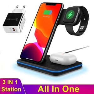 Image 1 - Universal 3in1 15W Qi Wireless Charger For Iphone XS 8 11 Pro Max Huawei Samsung Fast Charging Station For Apple Watch 5 4 3 2 1