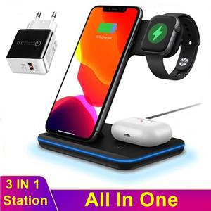 Update 15W Qi Wireless Charger For Iphone XS 11 Huawei Freebuds Samsung Buds Bud+ Station For Apple Airpods Pro Watch 5 4 3 2 1
