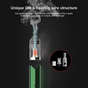 Image 3 - Original OVNS Saber II Pod Vape Kit Vape Pen 600mAh Pod System Cotton Coil Draw activated fring Electronic Cigarette VS W01
