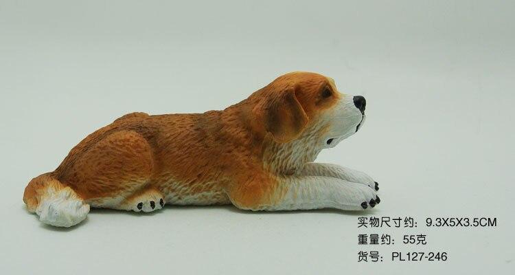 Model Wild Animal Model Set St. Bernard Dog (Party Attitude) Dog Plastic Emulate Toy thumbnail