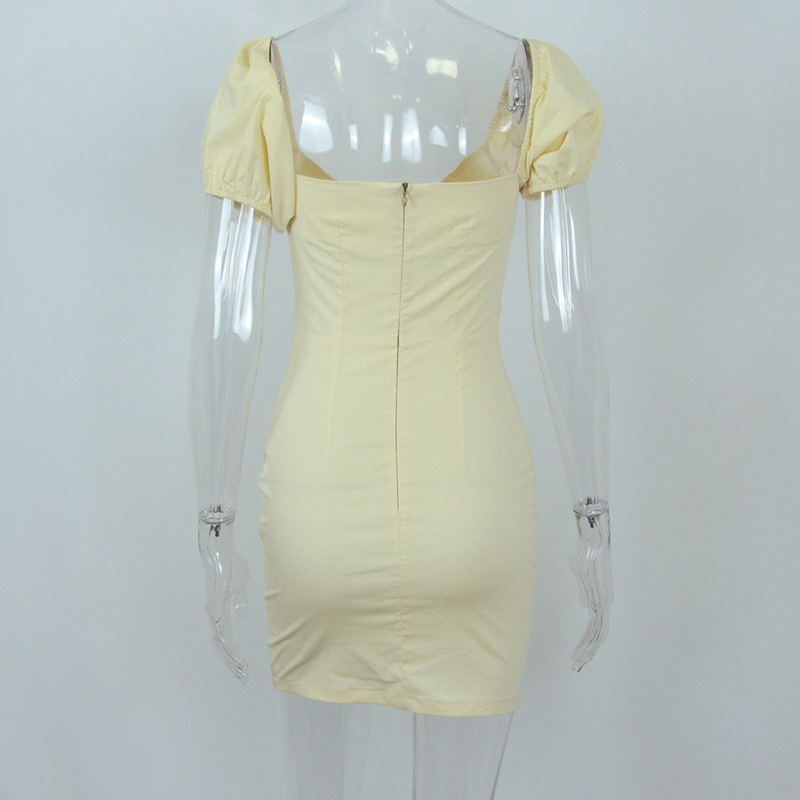 Elegant Backless Satin Bandage Ruched Bodycon Dress 9