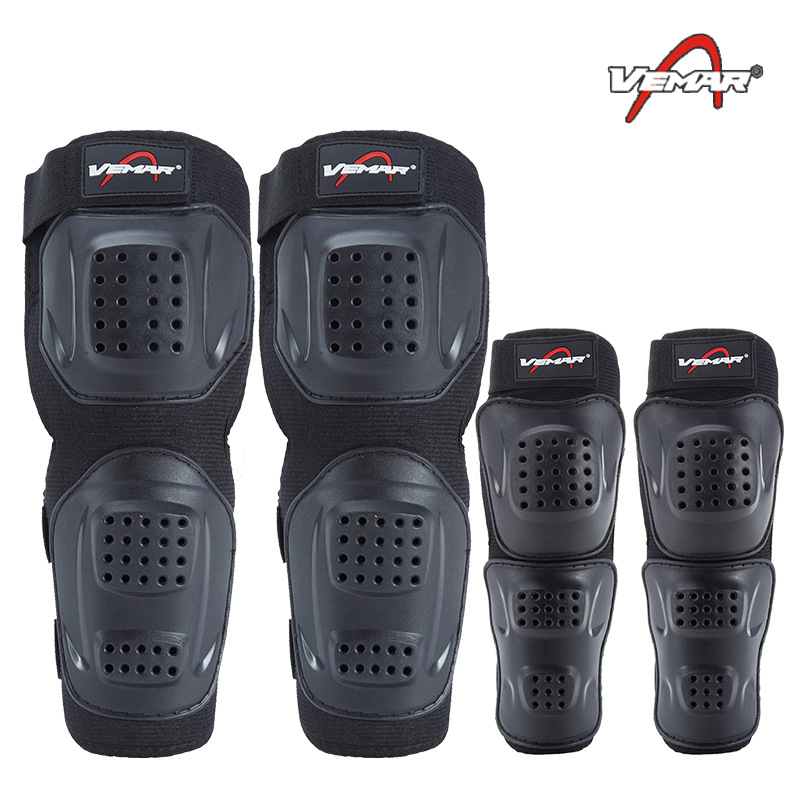 Motorcycle Shatter-resistant Kneecap Four-piece Set Off-road Equipment Knight Knee Protective Gear Summer Breathable Elbow Guard