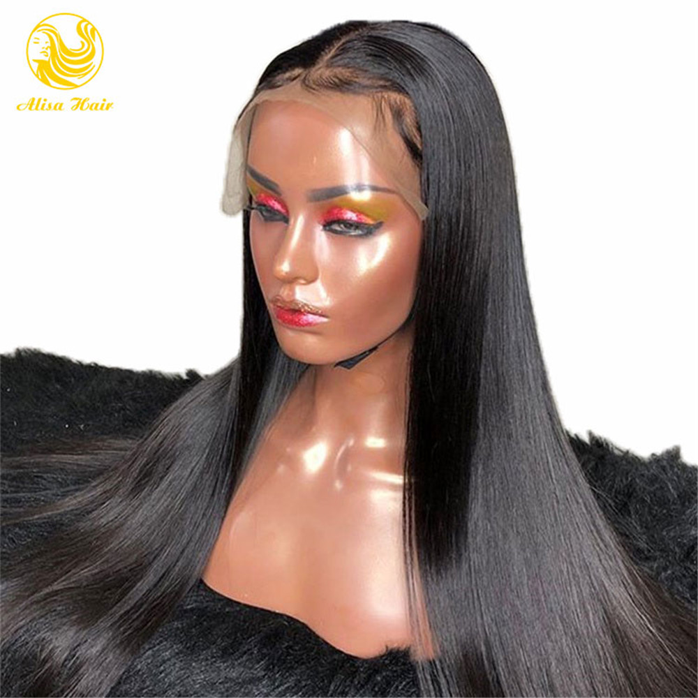 Fast Shipping Full Lace Human Hair Wigs Silky Straight Virgin Brazilian Lace Wigs Pre Plucked Hairline With Baby Hair