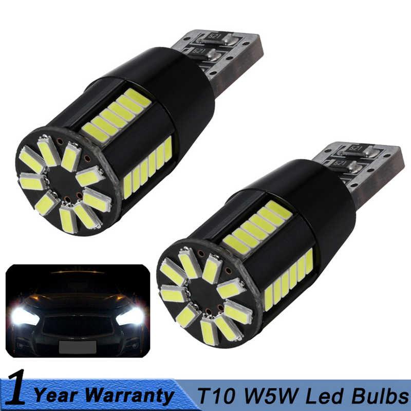 2x W5W T10 bombilla led tipo CANbus Car DRL 194 168 luz de estacionamiento de despacho de lectura lámpara Interior 12V 6000k blanco para Audi BMW Benz VW