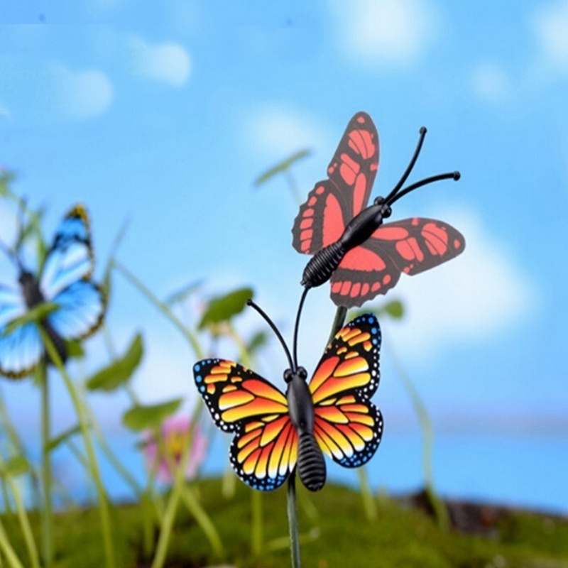 Bunch of Butterflies Garden Yard Planter Colorful Whimsical Butterfly Stakes Decoracion Outdoor Decor Flower Pots Decoration 3