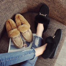 Shoes Women Winter Flats Furry Loafers M