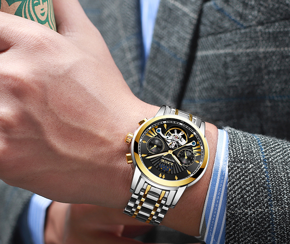 Hb72ab168a46a415e9e2aa453df48ea730 LIGE Official Store Mens Watches Top Brand Luxury Automatic Mechanical Business Clock Gold Watch Men Reloj Mecanico de Hombres