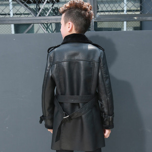 Image 5 - Высококачественная куртка для мальчиков, осенне зимняя модная корейская детская теплая куртка из искусственной кожи с бархатным утеплителем для детей, пальто для детей, на возраст от 2 до 8 лет
