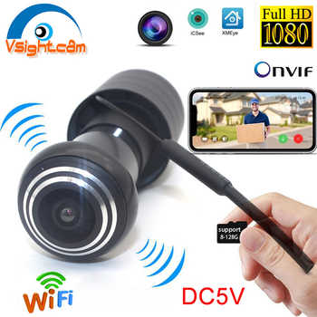 XMeye DC 5V Wireless HD 1080P Mini Door Camera Wifi Fisheye IP Camera Wide Angle Lens Network P2P Onvif Peephole Home Security - DISCOUNT ITEM  38 OFF Security & Protection