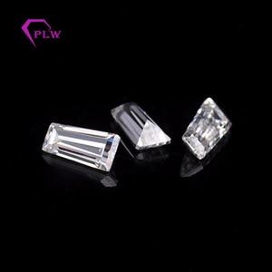 Image 5 - D color 1pcs 4 carat 8*10mm Radiant cut and 2pcs 5x4x2mm 0.4ct taper cut moissanite 3ex VVS for ring bracelet necklace