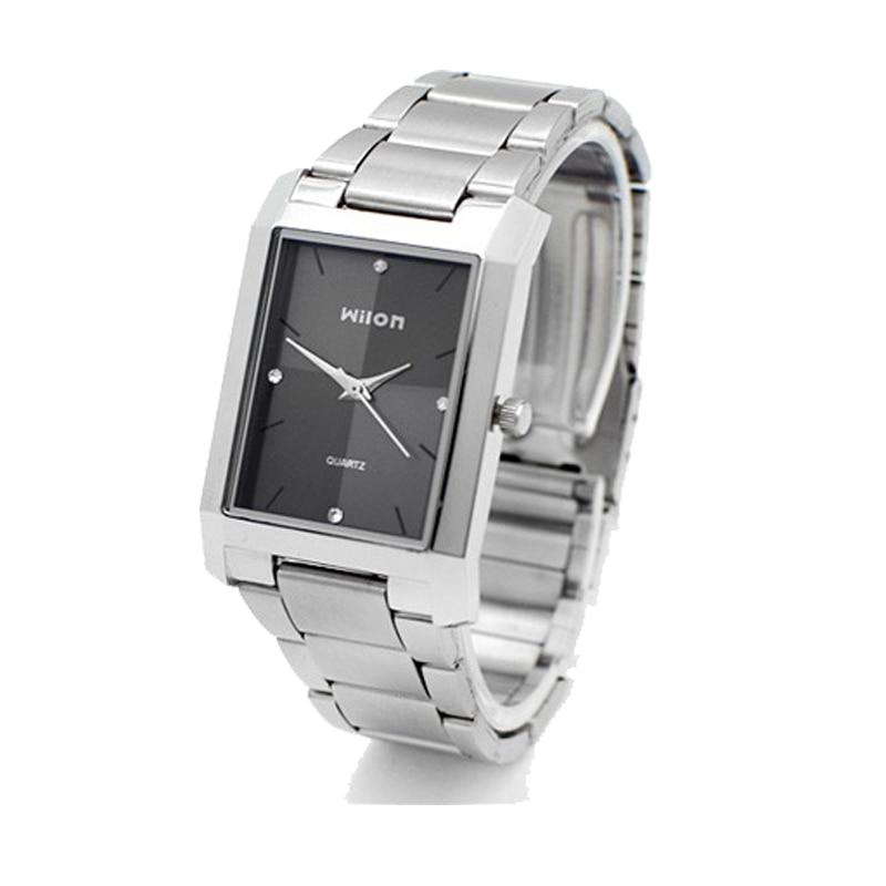 Square Quartz Watch Men Watches Luxury Original Genuine Wilon Fashion Couple Watch Women Form Diamond Business Lover Clock