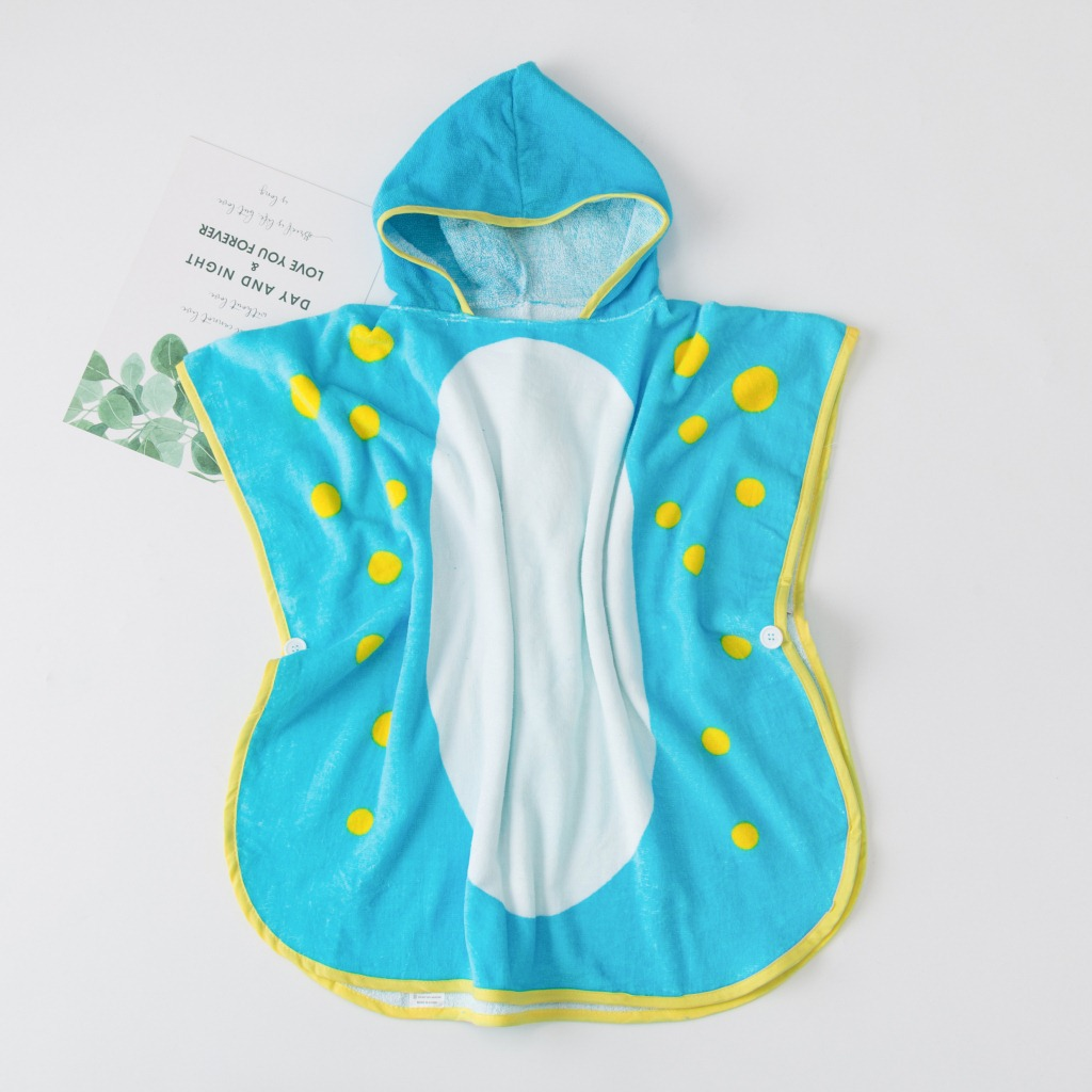 Creative Dinosaur Modeling Bath Towel For Children Absorbent Quick Drying Baby Swimming Towel Infants Bath Cloak Hooded