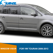 цена на Side Window Deflectors For VW TOURAN 2006-2013 Abs Black Window Visor Vent Shade Sun Rain Deflector Guards SUNZ