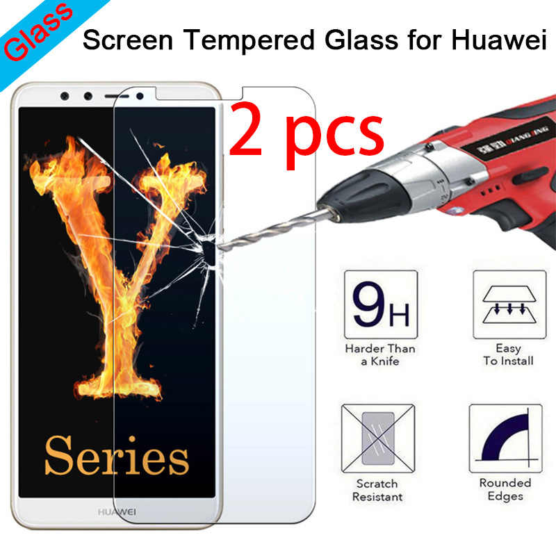 2pcs Hard Toughed Tempered Protective Glass for Huawei P20 Pro P10 Plus P9 Lite Transparent Screen Protector on Huawei P8 Lite