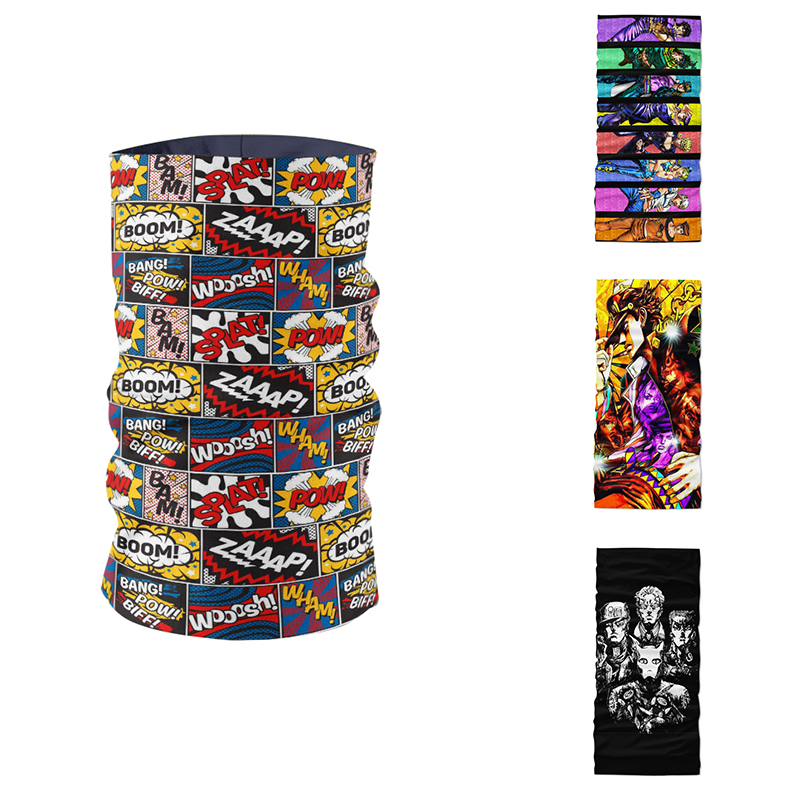 Unisex DIY Production Dustproof Turban Hair Accessories Funny Anime Character Printed Magic Sports Outdoor Cycing Mask Headscarf