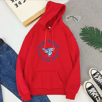 Enjoy Health Eat Your Honey Hoodies Harajuku Harry Styles Sweatshirt Womens Casual Pullovers Streetwear Bee Woman Clothes XL eat your peas