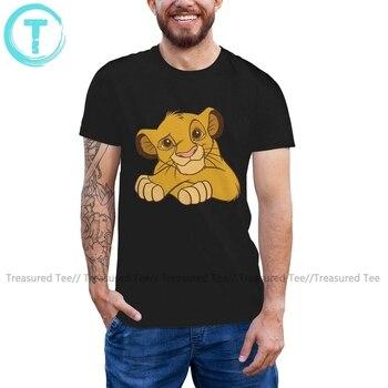 Simba T Shirt Simba Disney T-Shirt 100 Cotton Short Sleeves Tee Shirt Fun Graphic 4xl Male Beach Tshirt dark blue feather pattern cold shoulder short sleeves t shirt