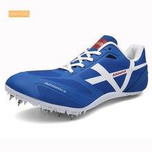 Мужские и женские спортивные кроссовки для тренировок, профессиональные беговые мягкие шипы, кроссовки 35-45