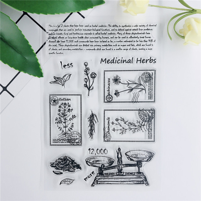 11*16 Balance Label Transparent Clear Stamps Bullet Journal Seal For Scrapbooking Rubber Stamp Sentiment Photo Album Card Making