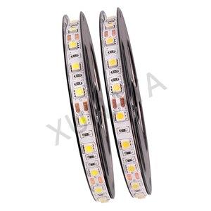 1 м 5 м светодиодный полосы света 12V 5050 SMD 60 светодиодный/m светодиодный лента с блоком питания постоянного тока Разъем EU/US/AU/UK переключение вил...