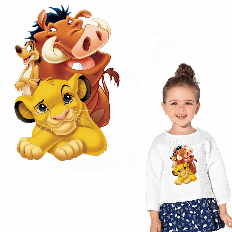 Populaire anime simba Koning leeuw patches voor kleding DIY kind T-shirt kleding hoodie Thermische transfer sticker