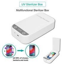 홈 클리닝 폰 페이스 마스크 소독 UV 스마트 폰 살균기 상자 아로마 테라피 살균제 소독 상자 나노 기술