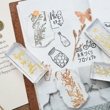 Vintage Creative plant series wooden rubber stamps for scrapbooking stationery DIY  stamp