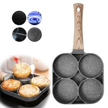Fried Hamburger Fried Egg Mold Four-Hole Fried Egg Pan Non-Stick Pancake Pan Pan With Removable Handle Gas+Induction Cooker Type