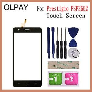Image 1 - Olpay 5.5 prestigio muze h3 psp3552 psp 100% duo 전면 유리 터치 스크린 센서 패널 용 새 3552 휴대 전화 터치 스크린