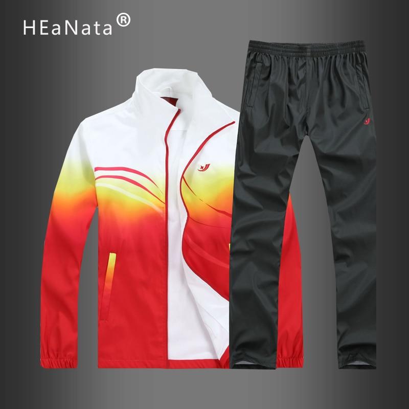 Mens Clothing Fashion Multicolor Autumn Spring Sporting Suit Sweatshirt +Sweatpants 2 Pieces Couples Tracksuit Sets Ropa Hombre