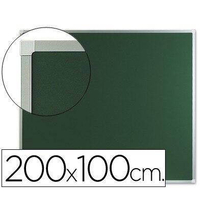 Q-CONNECT MURAL vert ardoise 200X100 CM sans étagère avec MARCO DE aluminium