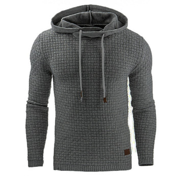 Autumn and Winter 2019 New European and American Men's Jacquard Guard, Long Sleeve Hoodie, Warm Colored Hoodie Sportsweater Coat