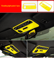 For Chevrolet Camaro Bumblebee 2017-2020 chrome yellow color Reading light panel 1pc