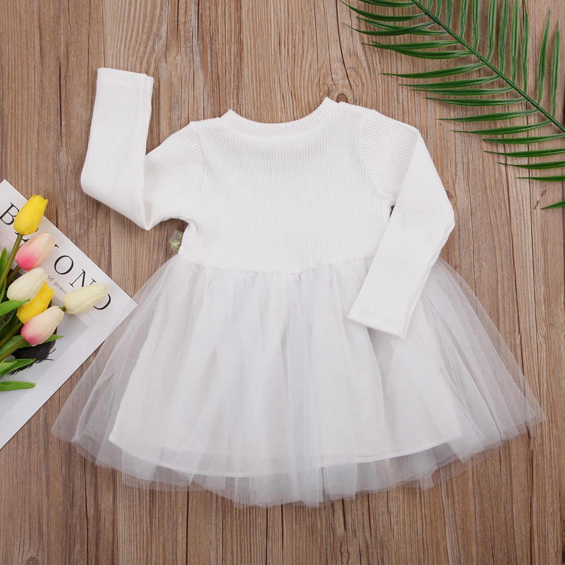 3-24M Princess Newborn Infant Baby Girls Dress Lace Flower Tutu Tulle Party Dresses For Baby Girls Birthday Baby Costumes Autumn