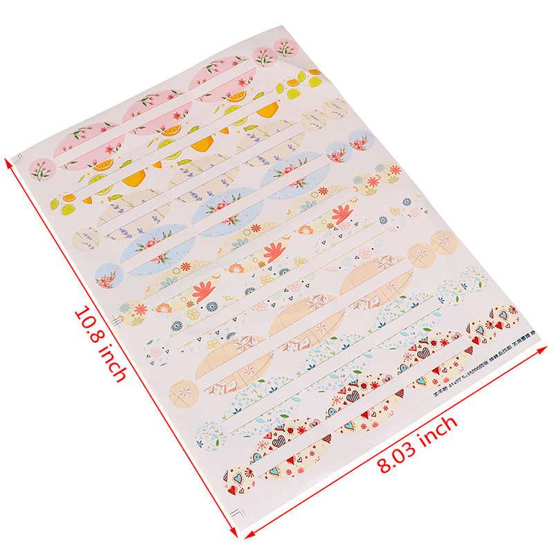 4 시트 에센셜 오일 병 스티커에 대 한 빈 종이 스티커 타원형 모양의 라운드 스티커 향수 병 뚜껑 레이블 주최자