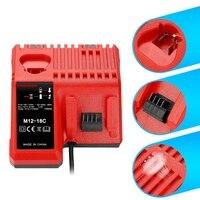 M12 & m18 rápida substituição carregador M12-18Fc 12 v & 18 v xc carregador de íon de lítio para milwaukee xc bateria (plugue da ue)